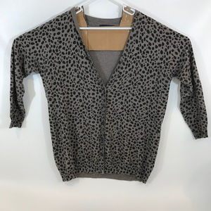 M&S Collection Animal Print V  Neck Cardigan